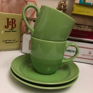 Apple Green Cup and Saucer Set NWOT
